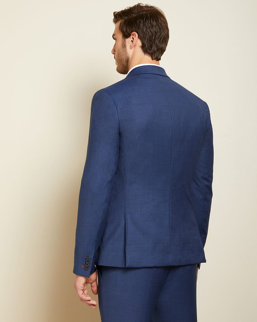 Essential Slim Fit blue wool-blend suit Blazer - Tall