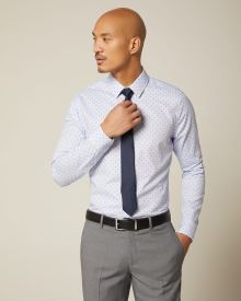 Essential Slim fit geo dress shirt