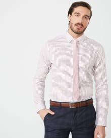 Tailored Fit grid check Dress Shirt