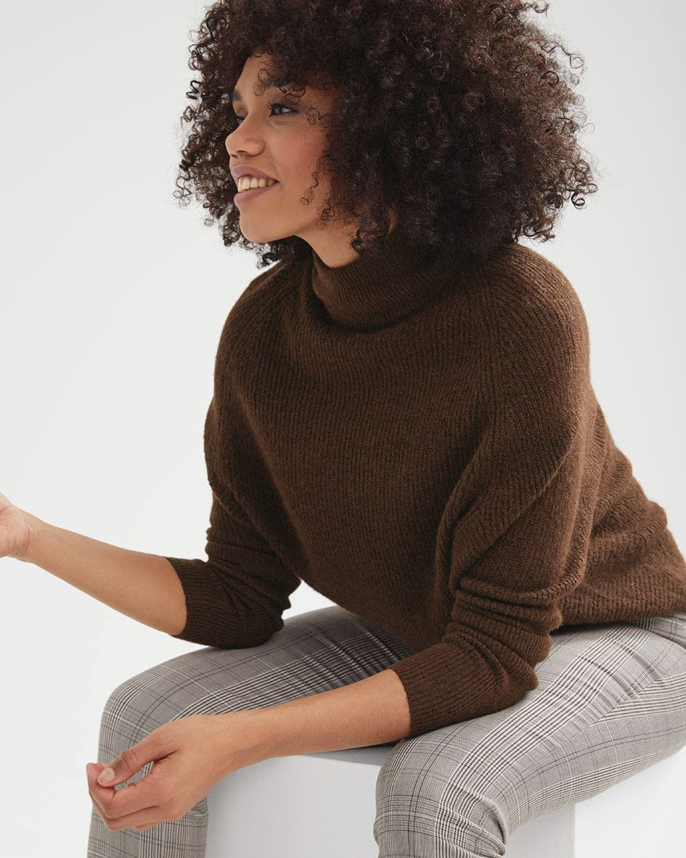 C&G Batwing Mock-neck Sweater