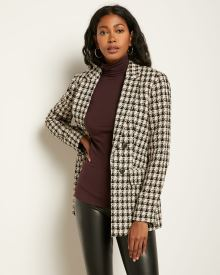 Loose fit Faux Double-breasted Boucle Blazer