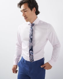 Athletic Fit tonal Herringbone Dress Shirt