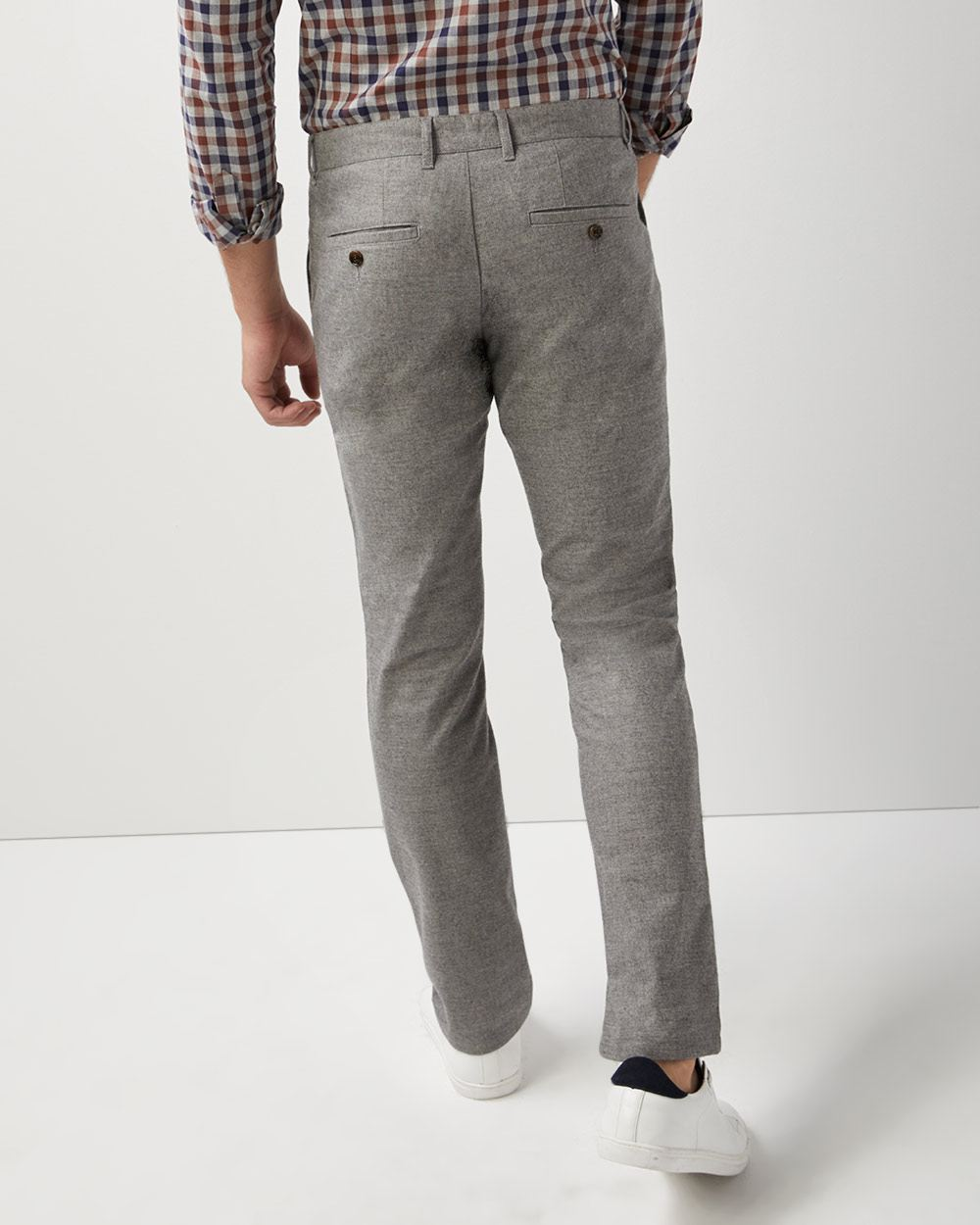 Slim fit brushed twill pant - 34''