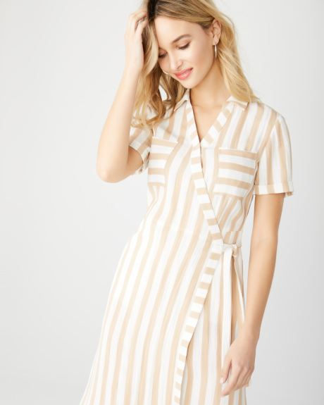29ace3e58239 Striped wrap dress
