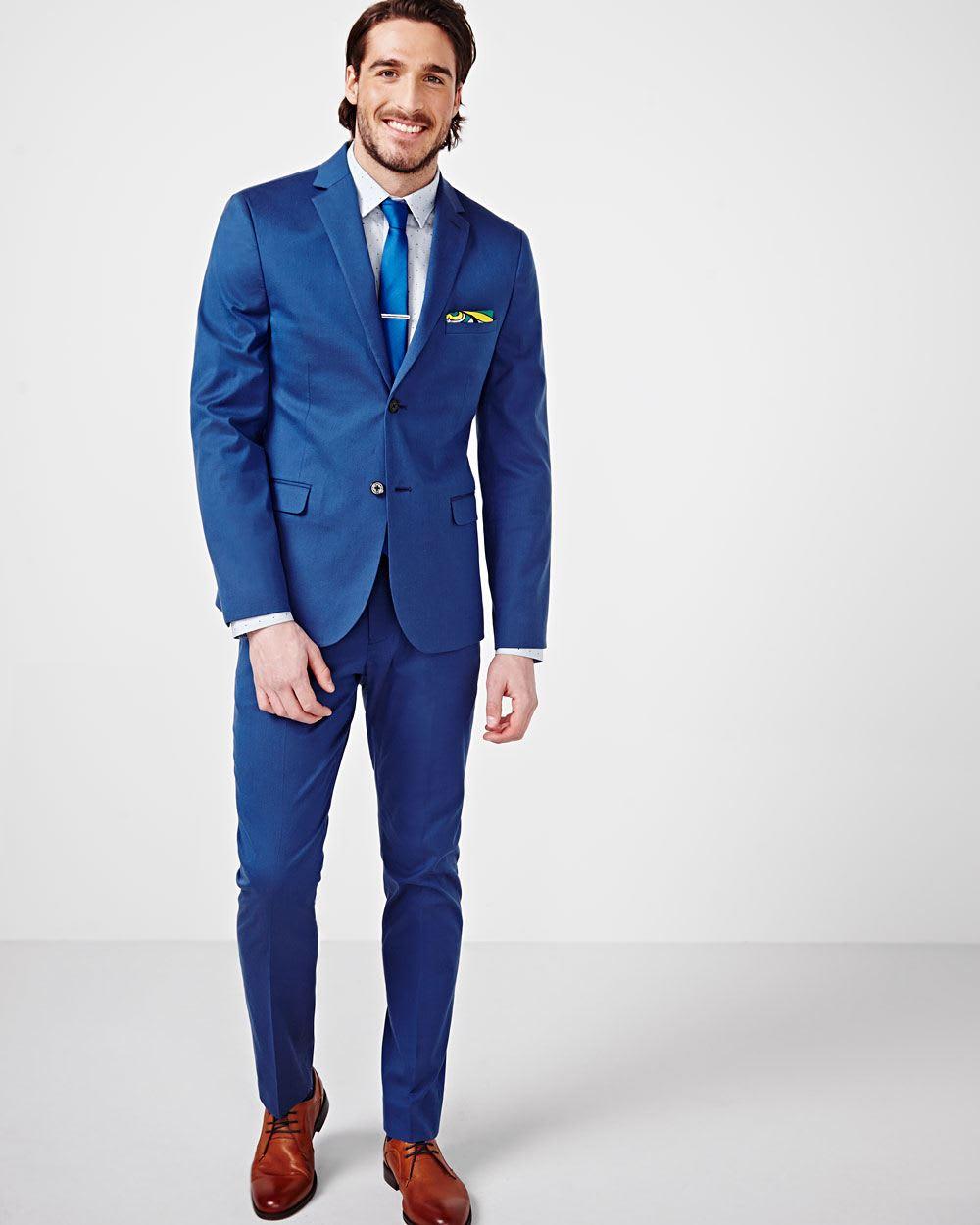 slim fit bright blue pant regular rw co. Black Bedroom Furniture Sets. Home Design Ideas