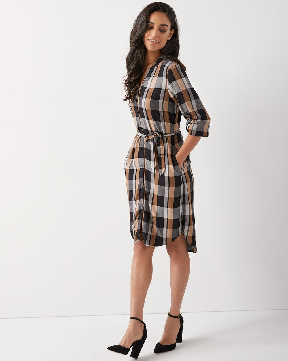 f8e80c062b3 C&G Plaid shirtdress | RW&CO.