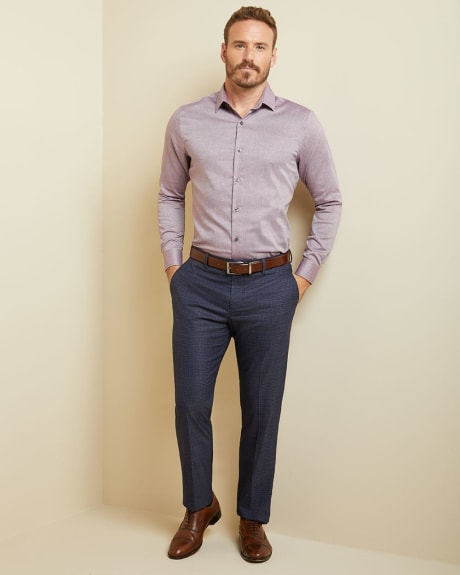 Athletic fit mini lozenge dress shirt