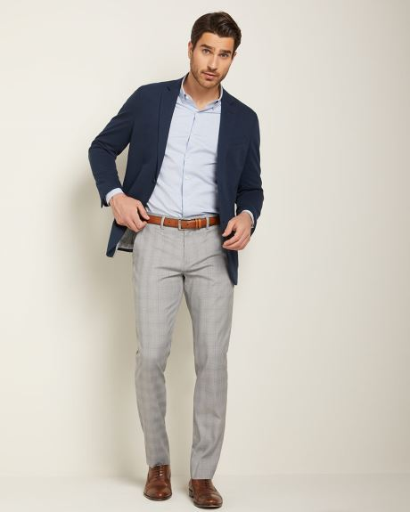Tailored fit glen check City Pant
