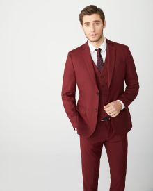 Slim Fit Marsala Red suit blazer