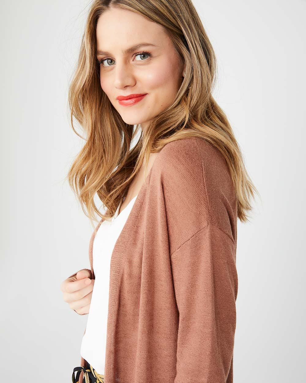 e25a2a9ce3 Long Open-front Lightweight cardigan | RW&CO.