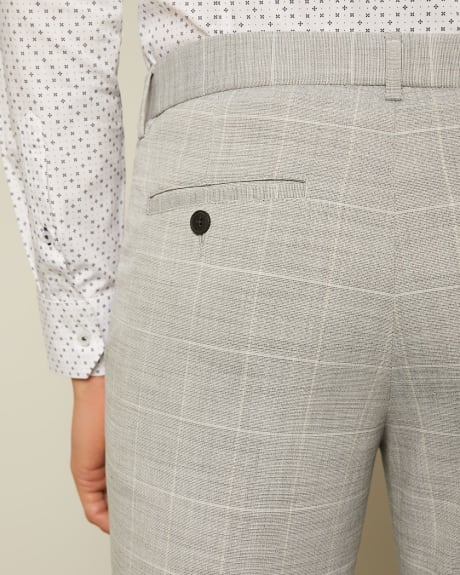 Slim Easy Light Grey Check Pant