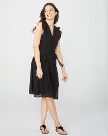 Chiffon dress with ruffles