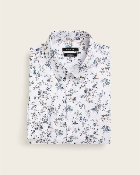 Tailored fit large floral dress shirt - Tall