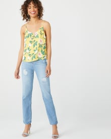 Mid-rise light wash Boyfriend jeans