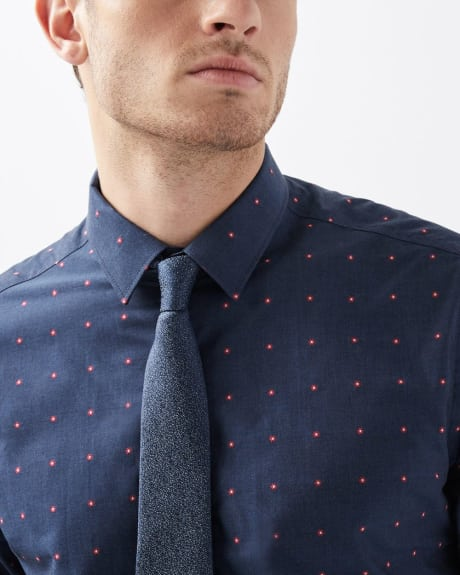 Tailored fit flower clipping Dress shirt