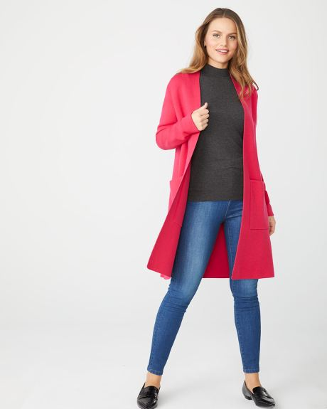 Open-front sweater coat