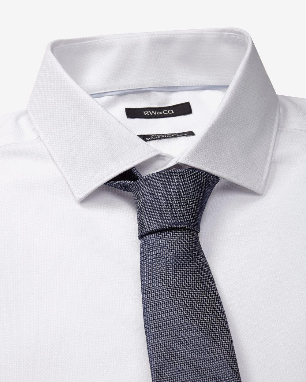 Athletic fit dress shirt with french cuff rw co for Best athletic dress shirts