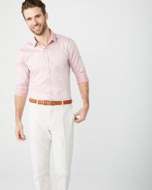 Slim Fit mini jacquard Dress Shirt