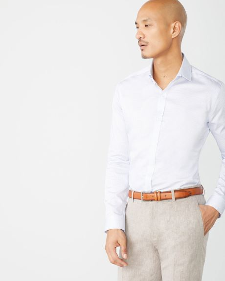 Tailored Fit cross pattern Dress Shirt