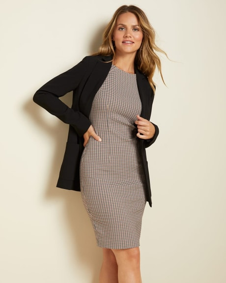 houndstooth Sheath City dress