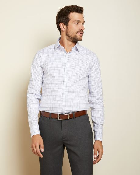 Tailored Fit open check dress shirt