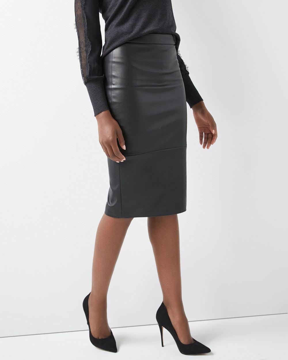 5a053e2af179 High-Waist Faux leather pencil skirt | RW&CO.