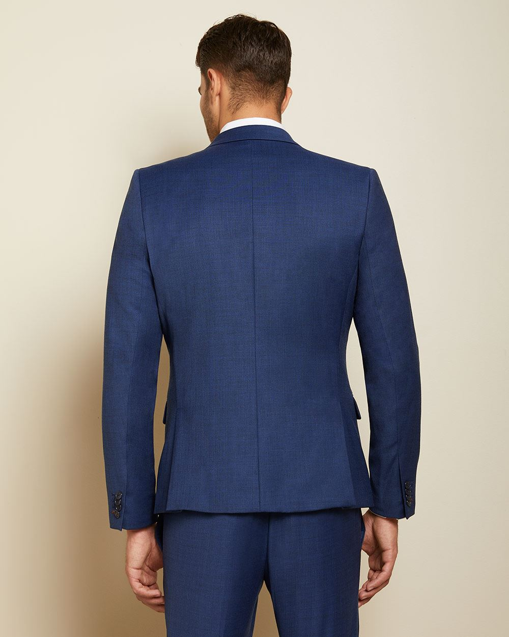 Essential Tailored Fit blue wool-blend suit Blazer