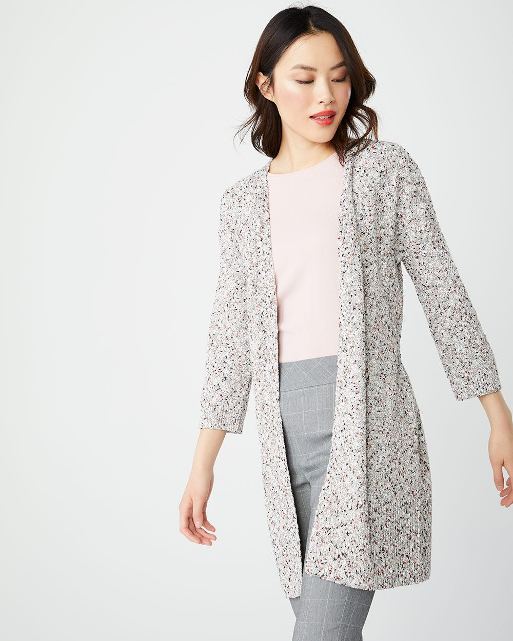 C&G Belted nep cardigan