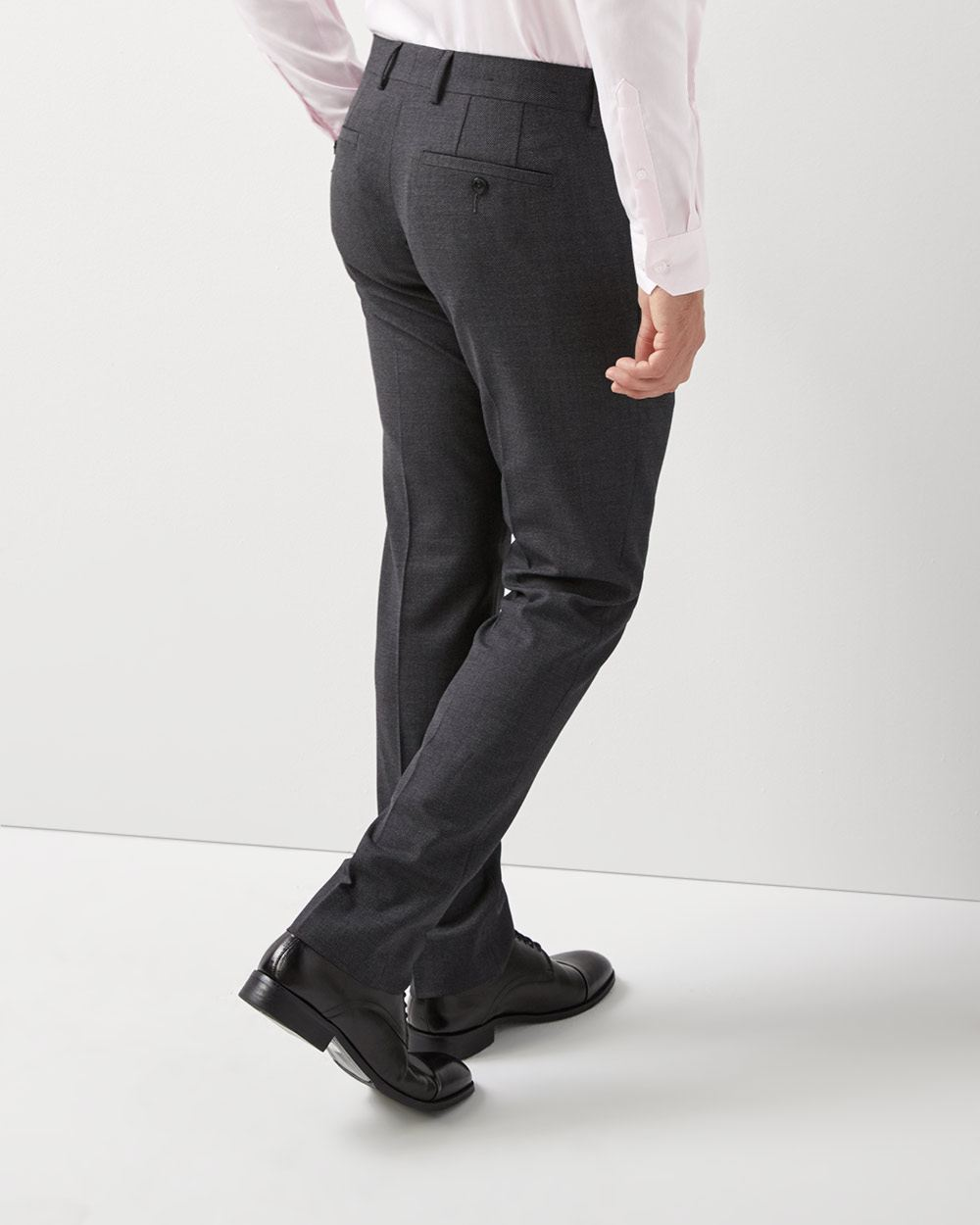 Slim Fit two-tone grey Traveler pant