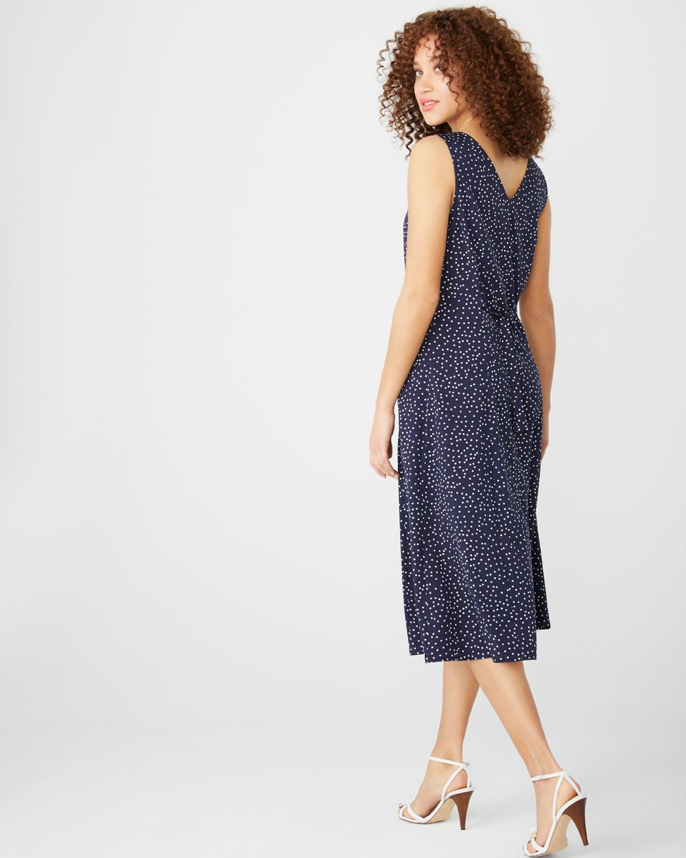 Polka dot midi shirtdress