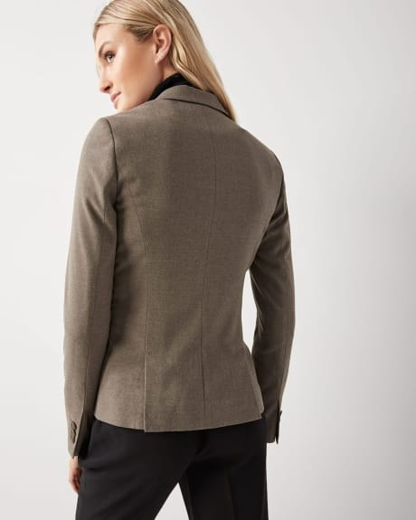 Taupe Grey Flannel Twill fitted blazer