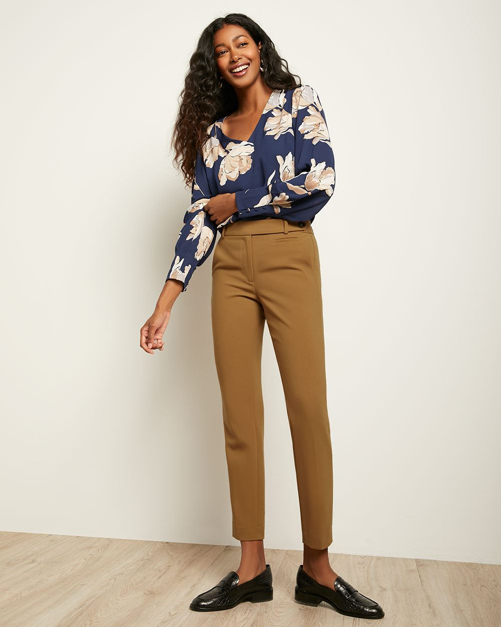 Solid Signature Fit Slim Leg Ankle Pant