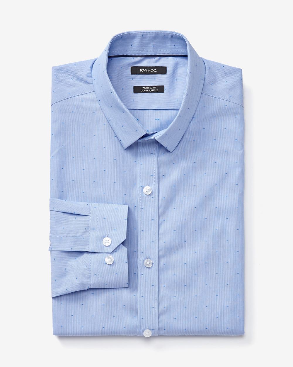 Tailored Fit Dress Shirt With Print And Stripes Rwco
