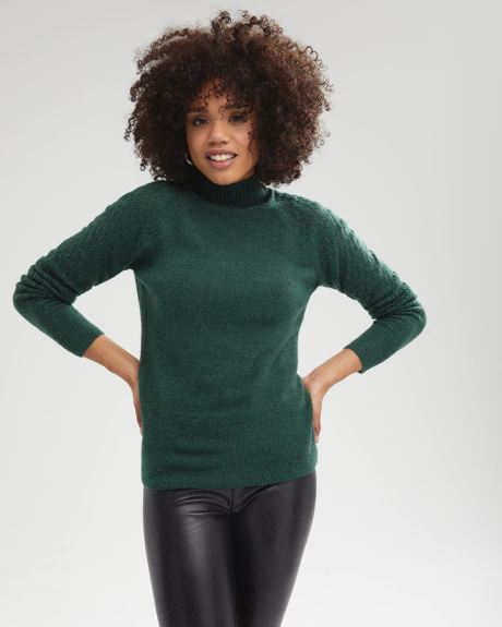 Raglan Sleeve Spongy Knit Sweater