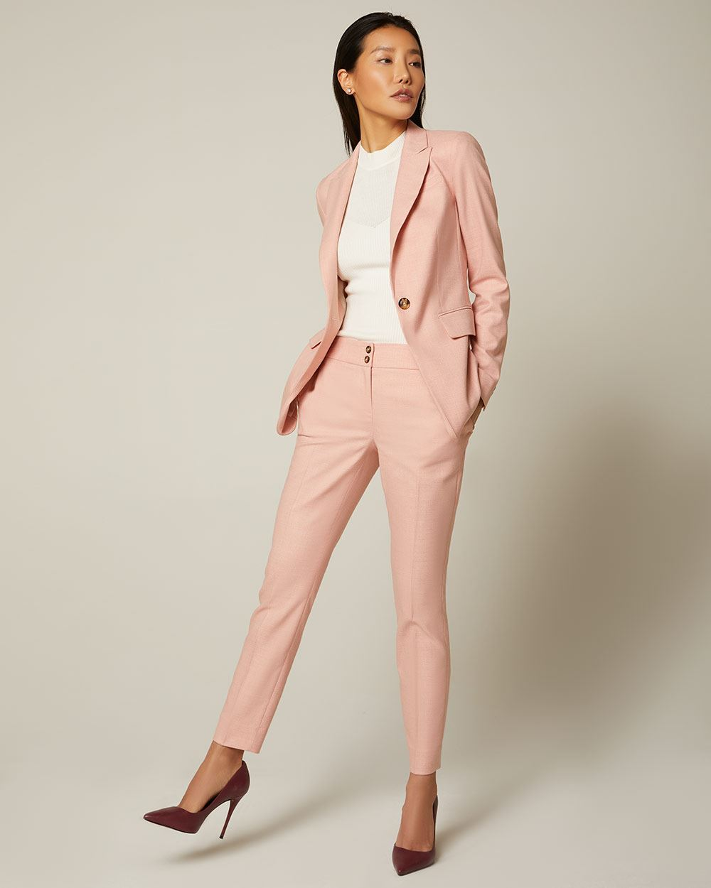 Heather pink Slim Leg Ankle Pant