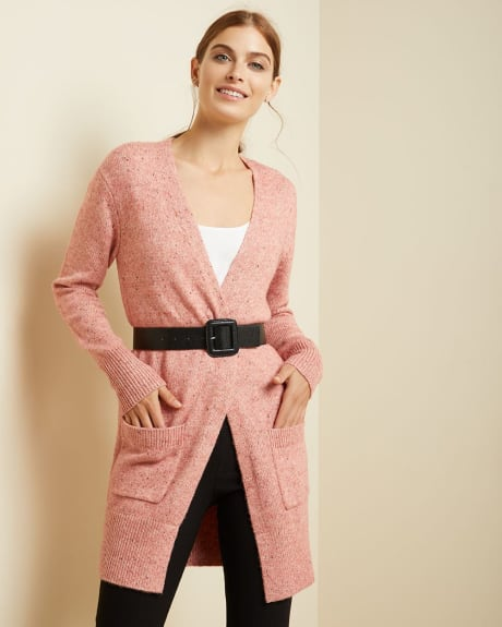 C&G Nepped open-front cardigan