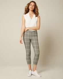 C&G Cropped black and white check City legging pant
