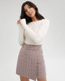 Belted High-Waist Wrap Skirt