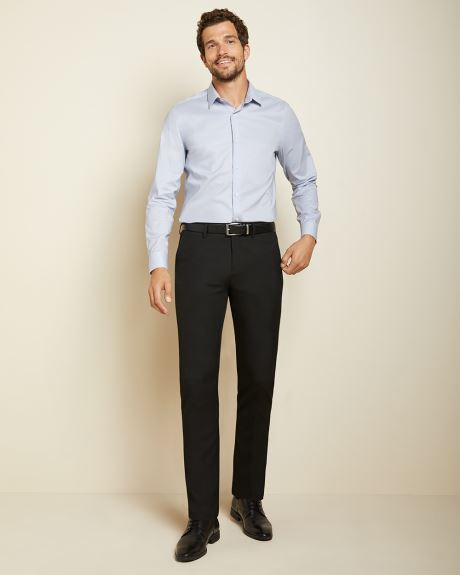 Slim Fit solid performance dress shirt