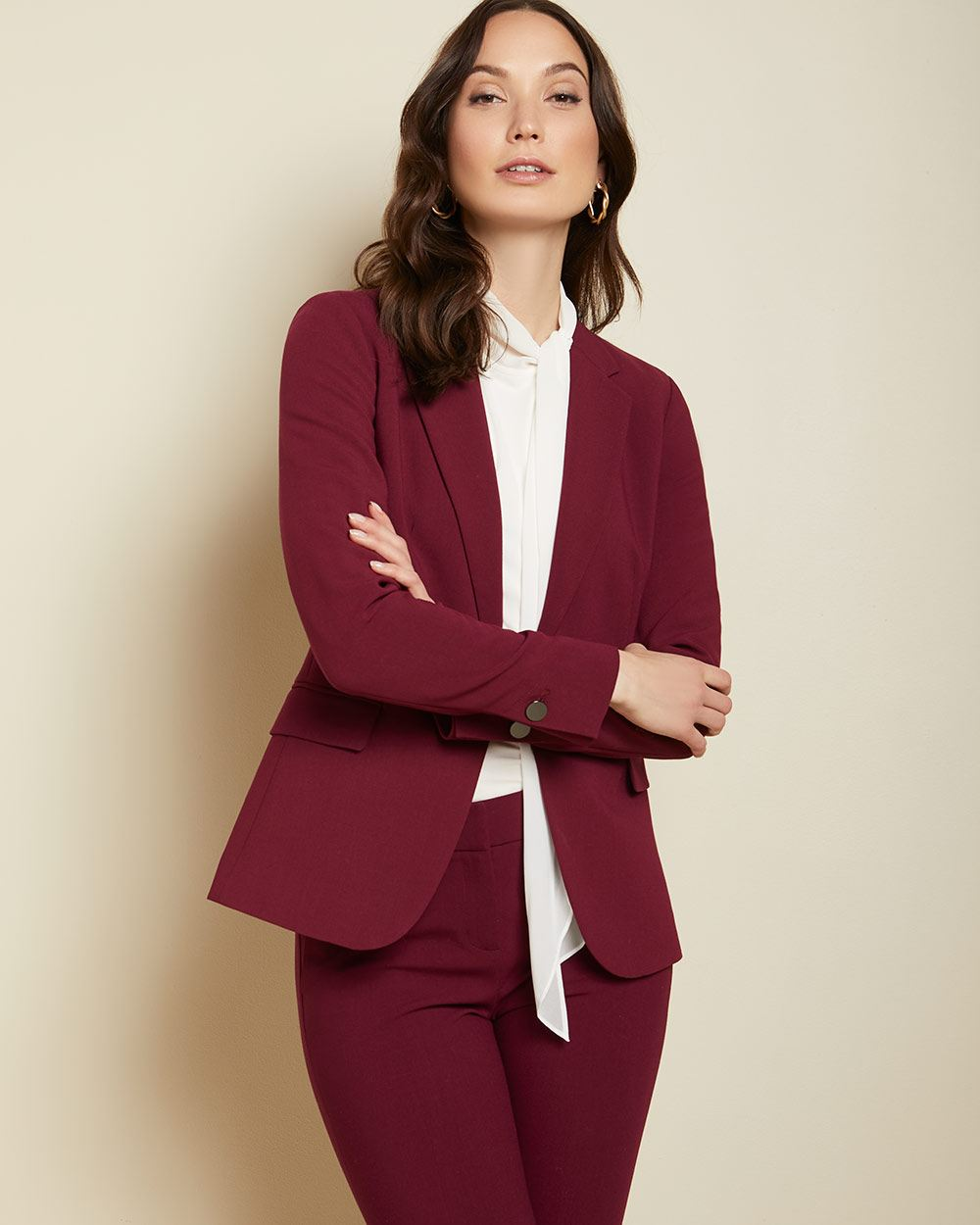Stretch fitted blazer