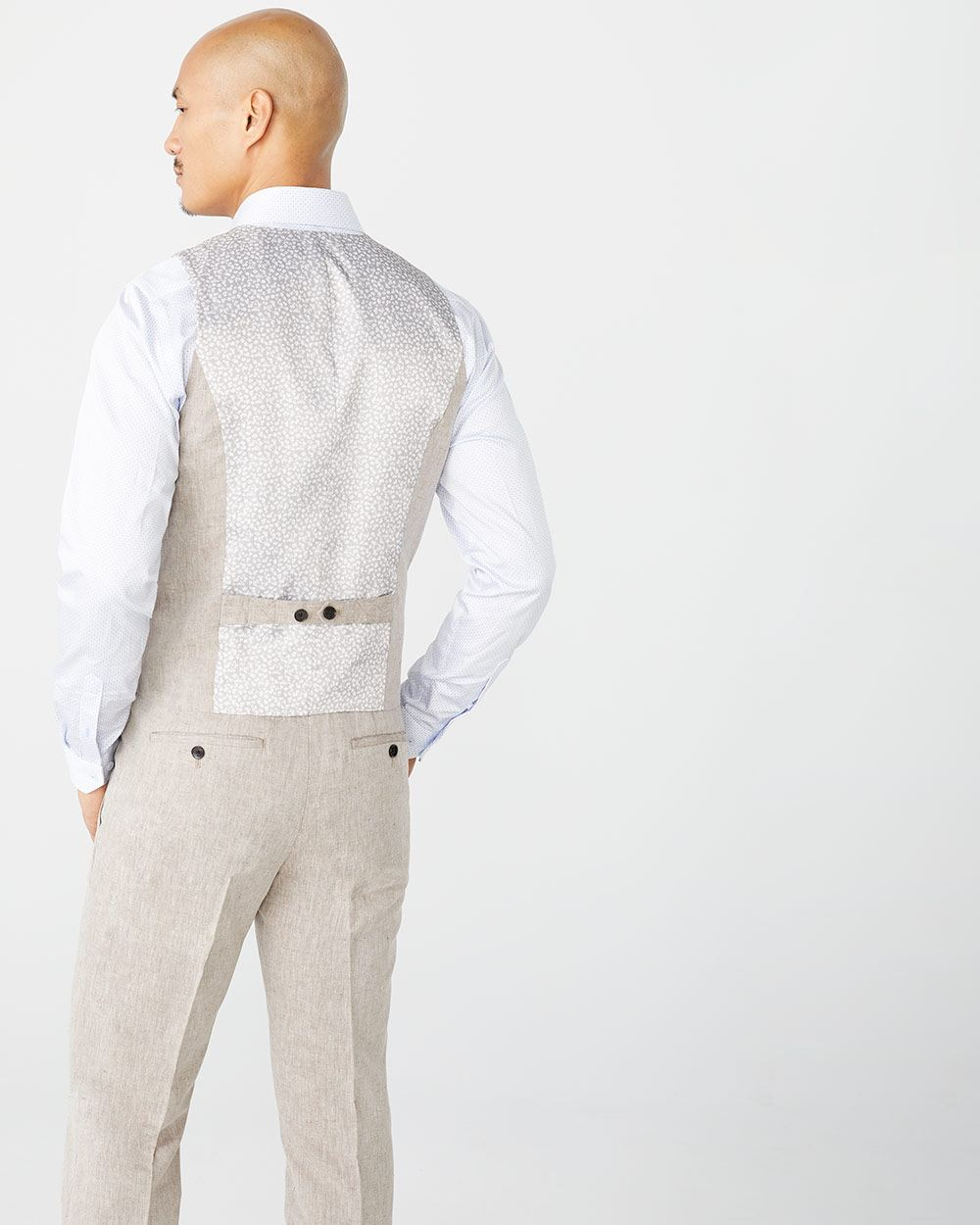 Tailored Fit Linen-Blend suit vest