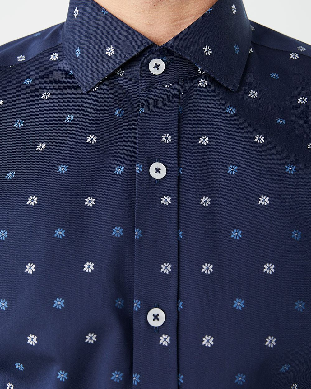 Slim Fit floral clipping dress shirt