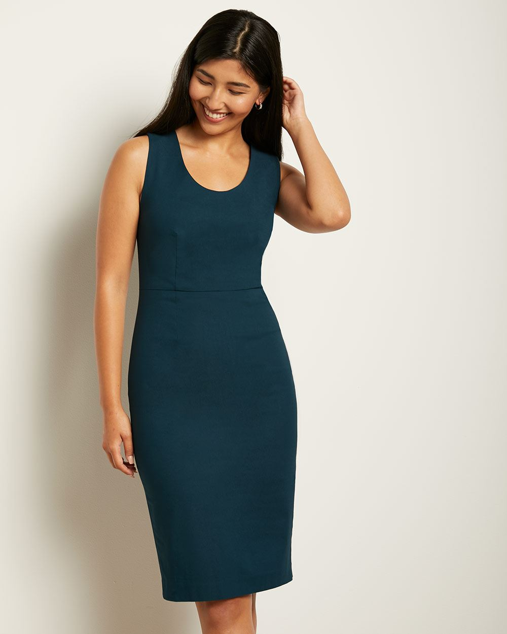 U-neck Sheath City dress