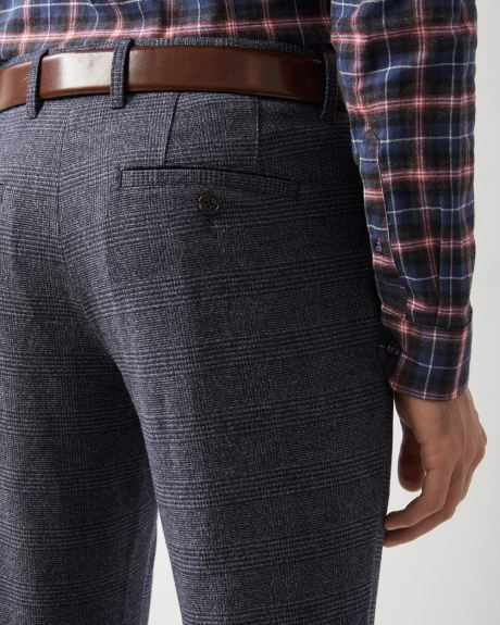 Slim fit Brushed check Pant