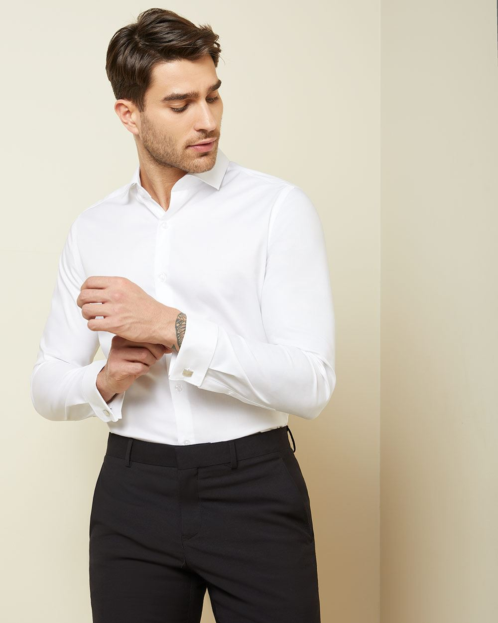 Tailored Fit Dress Shirt With French Cuff Rwco