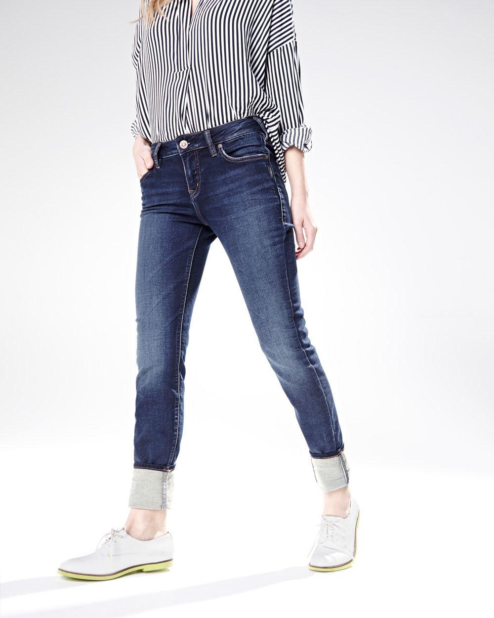 98f1362a Silver jeans (TM) - Aiko high waist knit skinny jeans in dark blue ...