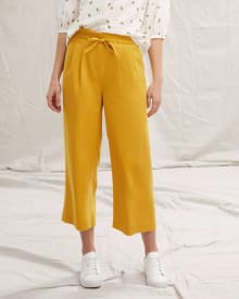 High-Waist Paperbag Crop Pant - 24.5""