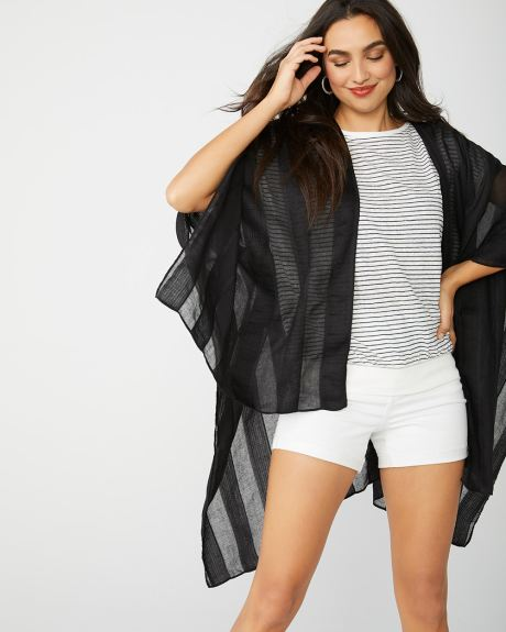 Sheer stripe cover-up