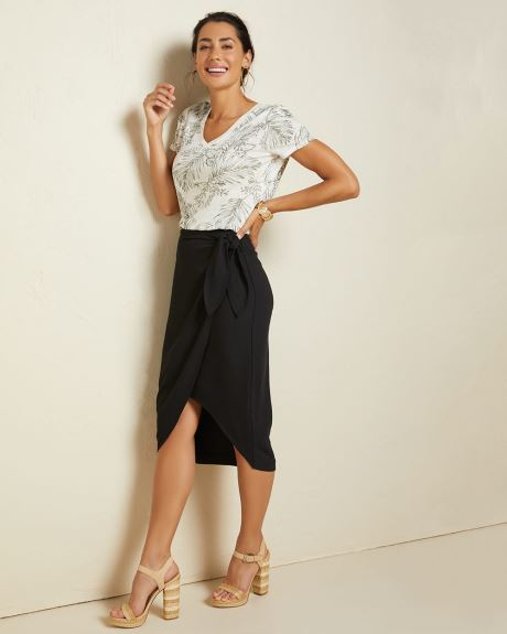 Textured Faux wrap skirt