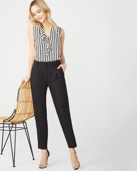High-waist signature fit tapered leg ankle pant